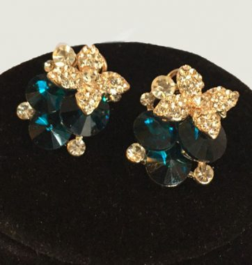 J0158 Turquoise Sparkle Earrings