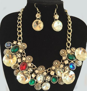 J0170 Bejeweled Set Necklace