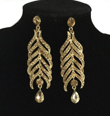 J0181 Gold Hanging Tree Earrings