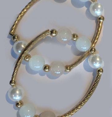 J0218 Gold & Pearl Bracelets