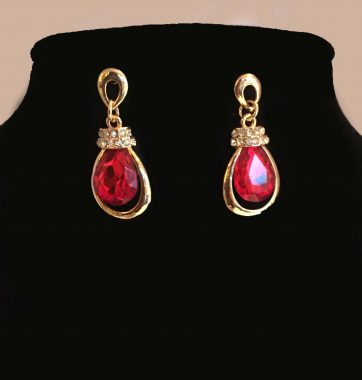 J0219 Ruby Earrings