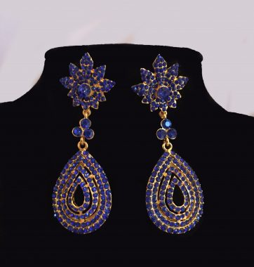 J0223 Blue Swirl Earrings